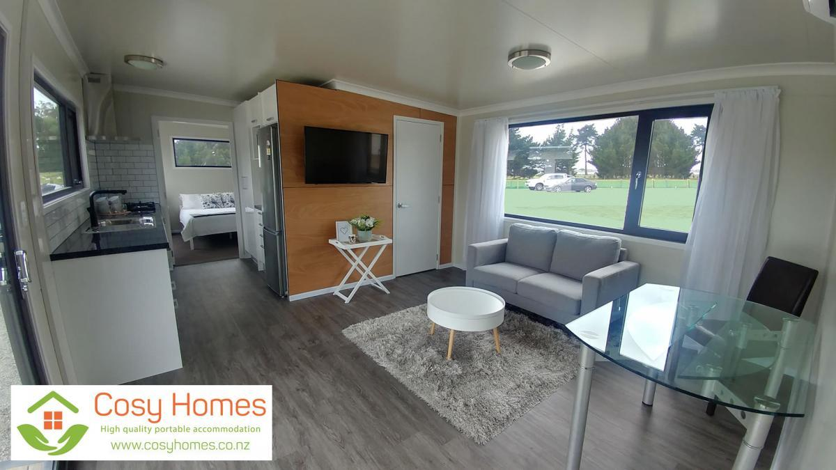 Open plan lounge, dining & kitchen