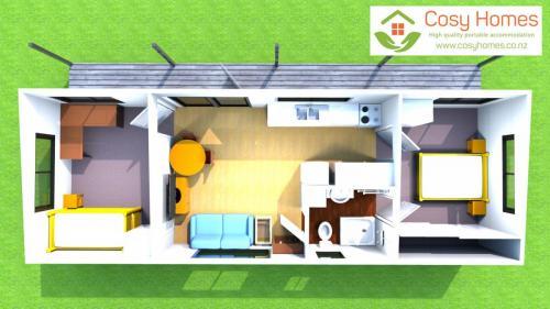 Floor plan with furniture and veranda